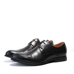 红琢路男式鞋名士皮鞋男真皮高档皮质时装鞋牛皮纹商务鞋