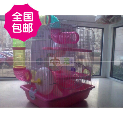 Genuine Dayang three large owl pipeline space hamster cage large luxury villa M012B 022b multicolor