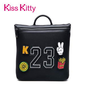 Kiss Kitty女包2016新款双肩背包个性拼接百搭学生包