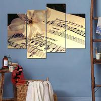 音乐室装饰画 琴行挂画 沙发背景墙画卧室油画 五线谱钢琴无框画