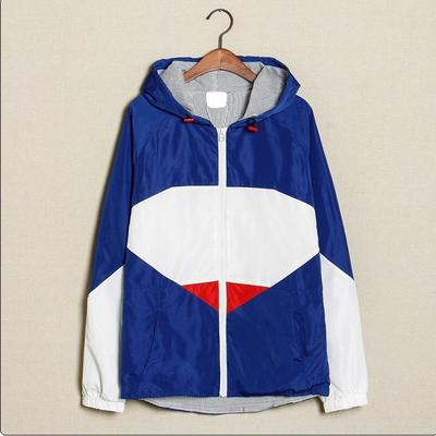 MACHEDA hooded jacket sportswear color matching han edition cultivate one's morality leisure coat Japanese autumn wear cardigan male restoring ancient ways