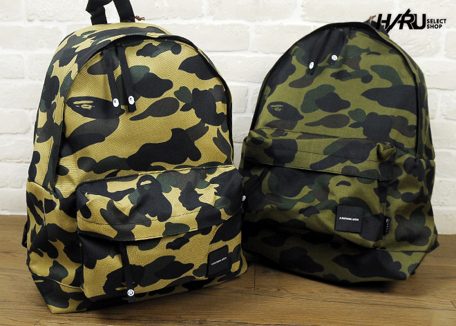 现货台湾直发 A BATHING APE DAY PACK 迷彩魔鬼氈後背包 双肩包