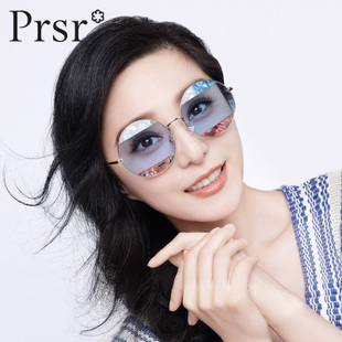 【Pasha】Ladies fashion sunglasses sunglasses circular metal optical color filter can be equipped with myopia tide J6675