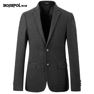 Bang Shipu autumn and winter Korean version of Slim wool woolen suit men leisure suit jacket men Slim small suit