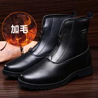 冬季新款男士高帮鞋长筒靴韩版潮中帮短靴加棉保暖马丁靴防滑包邮