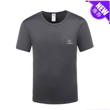2015 summer men's sport functional fabrics containing bamboo charcoal fiber Icy breathable Moisture absorption perspiration quick-drying T-shirt