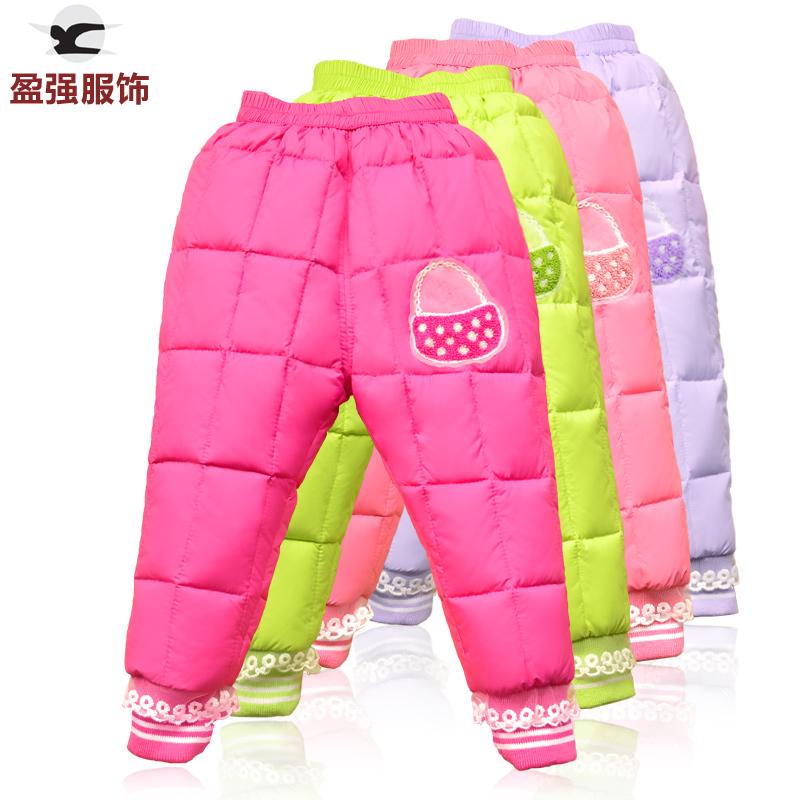 时尚糖果色可爱小花篮0-6岁女宝宝棉裤婴幼儿童保暖冬裤子女童装