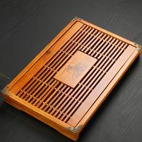 柯木排水蓄水小号功夫茶具茶盘实木茶台抽屉式茶海托盘套装特价