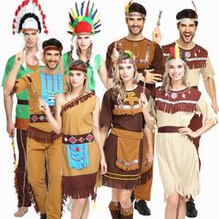 万圣节服装cosplay演出服衣服成人男女土著人非洲原始印第安野人