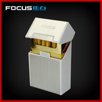 FOCUS焦点20支装烟盒磁扣香菸盒创意男士防潮防压金属礼品烟盒