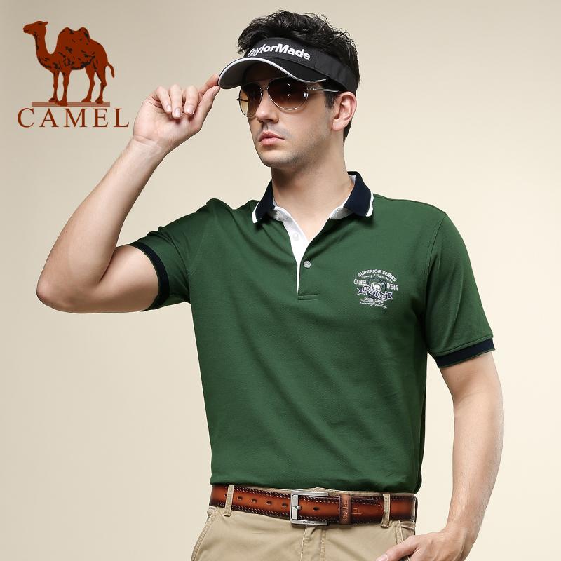 骆驼男士翻领短袖T恤 2014夏装新款 多彩polo衫 正品清仓特卖价