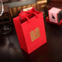 花半里 创意回礼袋 婚庆结婚礼品袋喜糖手提袋袋子大号纸袋喜糖盒