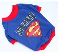 宠物超人打底外套 t恤衫狗狗衣服 泰迪博美贵宾服装棉外套