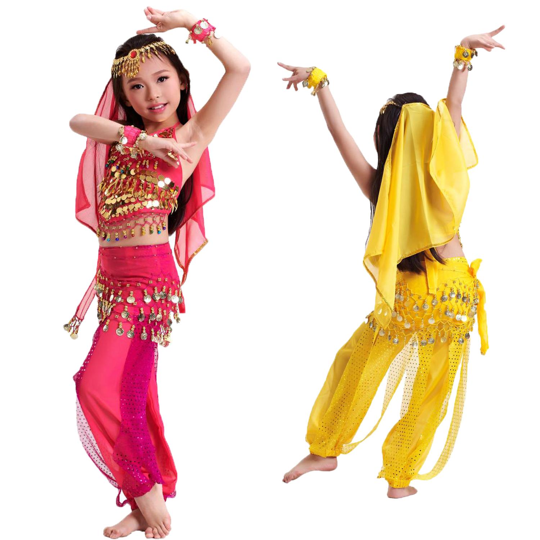 六一儿童肚皮舞套装61少儿印度舞蹈舞台表演演出服装图片