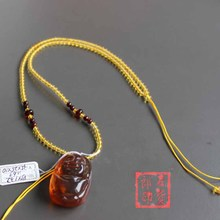 Stone peddler Baltic Jin Po beads hand-made by single necklace pendant rope hanging rope with rope