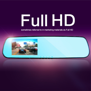 The new car rearview mirror driving recorder 1200W HD 4.3 double lens wide-angle 1080p night vision Mini
