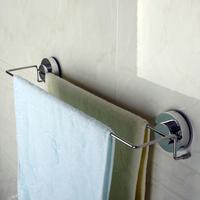 免痕强力吸盘壁式挂钩粘钩不锈钢墙面玻璃门后浴室双杆毛巾架包邮