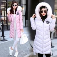 2016冬季新款羽绒棉服韩版中女款毛毛领帽大码外套棉袄女学生加厚