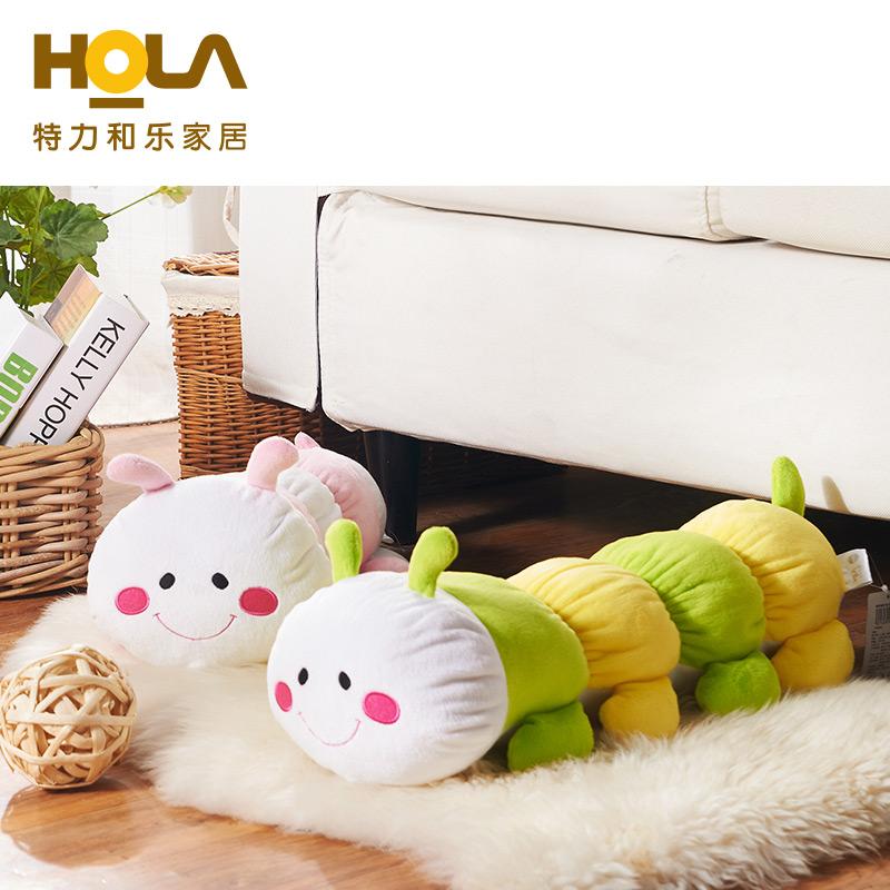 HOLA特力和樂 棉花糖毛毛蟲造型抱枕兒童居家靠墊抱枕HH109045
