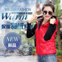 2015冬季新款伊人制造女外穿时尚连帽羽绒服马甲背心保暖外套包邮