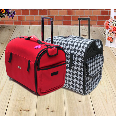 Provincial shipping pet dog bag bag trolley bag reinforcement lengthened out pet trolley carrying luggage box