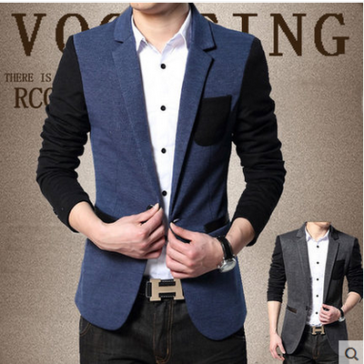 2014 Men's new winter jacket men cultivating tide casual single small suit men's Korean version of the suit jacket