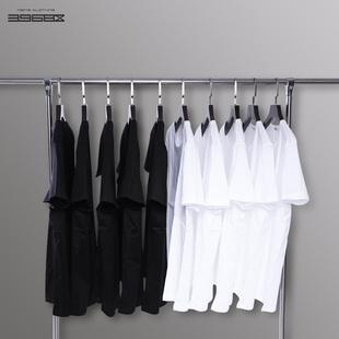 短袖t恤男纯色t桖圆领长袖打底衫宽松纯棉丅纯白色半袖体恤上衣服