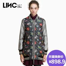 LINC金羽杰秋冬新款轻薄羽绒服女棒球衫羽绒衣宽松显瘦592704图片