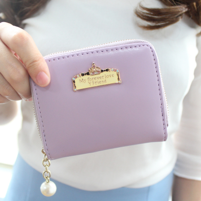 New Korean cute fashion small fresh zipper mini female short paragraph coin purse and wallets student purse