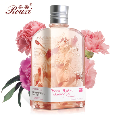 Soft posture rosy carnations Whitening Shower Gel 300ml shower gel genuine rejuvenation petals