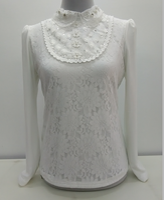 烫珠镂空冬季8005衬衣领长袖超柔加厚加绒保暖修身显瘦打底衫女款