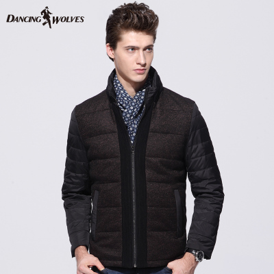 Dances with Wolves men's jacket stitching wool coat 2014 winter new men's authentic 7904