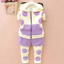 The 1-2-3 - year - old children baby girl children wear qiu dong children's wear Lovely a set of good clothes