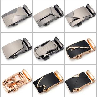 皮带扣头皮带头男士合金+自动扣头韩版裤腰带头3.5cm卡头商务配件
