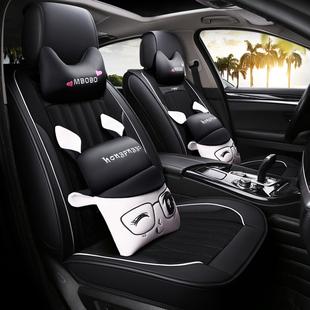 冬季汽车坐垫四季通用座套网红全包围座垫卡通小车专用车垫座椅