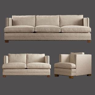 美式乡村客厅组合沙发小户型北欧式宜家简约布艺三人双人单人沙发