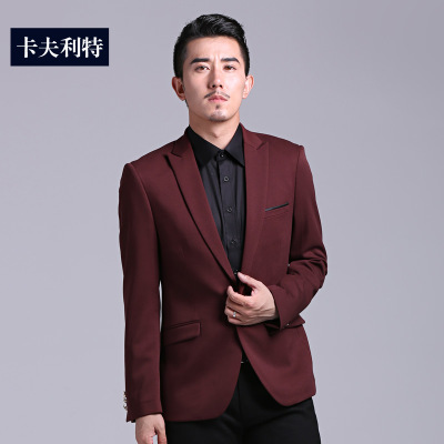 Kraft Split 2014 new fall coat Korean Slim British fashion casual business suits men