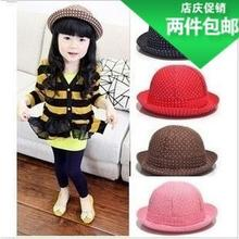 Small boys girls hat white dot small basin cap dome children cap neutral baby hat children's hat