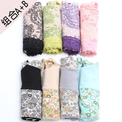 Cotton lace panties underwear women sexy underwear female Lang Lang Sha Sha underwear free shipping 8 installed