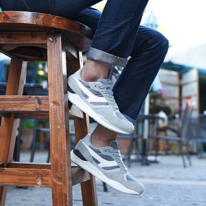 李宁男鞋2016冬季新品运动鞋百搭经典复古休闲鞋透气慢跑鞋男板鞋图片