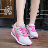2016秋冬韩版内增高8cm保暖加绒运动鞋跑步 女学生旅游休闲鞋34码