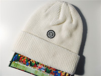 【d3fcdc】supreme disrupt rubber patch beanie 正品