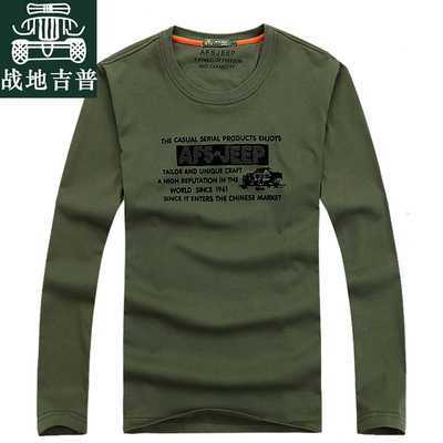 AFS JEEP counter genuine long-sleeved T-shirt men Battlefield Jeep casual men's round neck T-shirt loose big yards