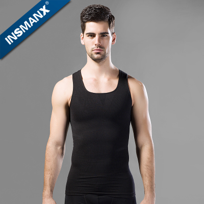 INSMANX girly men vest sports bra tight chest and abdomen thin waist slimming underwear beer belly