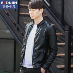 2016秋季新款男士皮衣外套春秋薄款男式韩版修身男款青年PU皮夹克