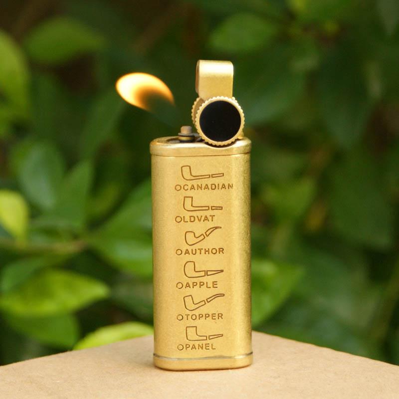 纯铜烟斗打火机礼盒