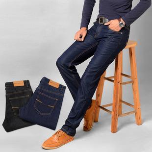 年底清仓高档男士新款黄金绒牛仔裤男式加绒加厚商务休闲直筒男装