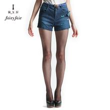 【买1送1】淑女屋修身显瘦韩版直筒水洗磨白显瘦女装牛仔裤短裤图片
