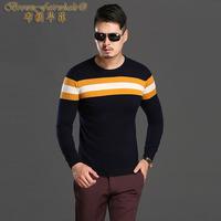 空气层休闲男式长袖T恤时尚T恤羊毛羊绒衫毛衣男装打底衫修身韩版
