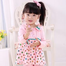 Superiorly happy bei 2015 spring baby baby clothes girls long-sleeved T-shirt spring cotton render unlined upper garment B1026 0 to 6 years old